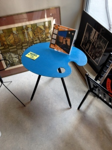 Loved this artist's' palette occasional table.