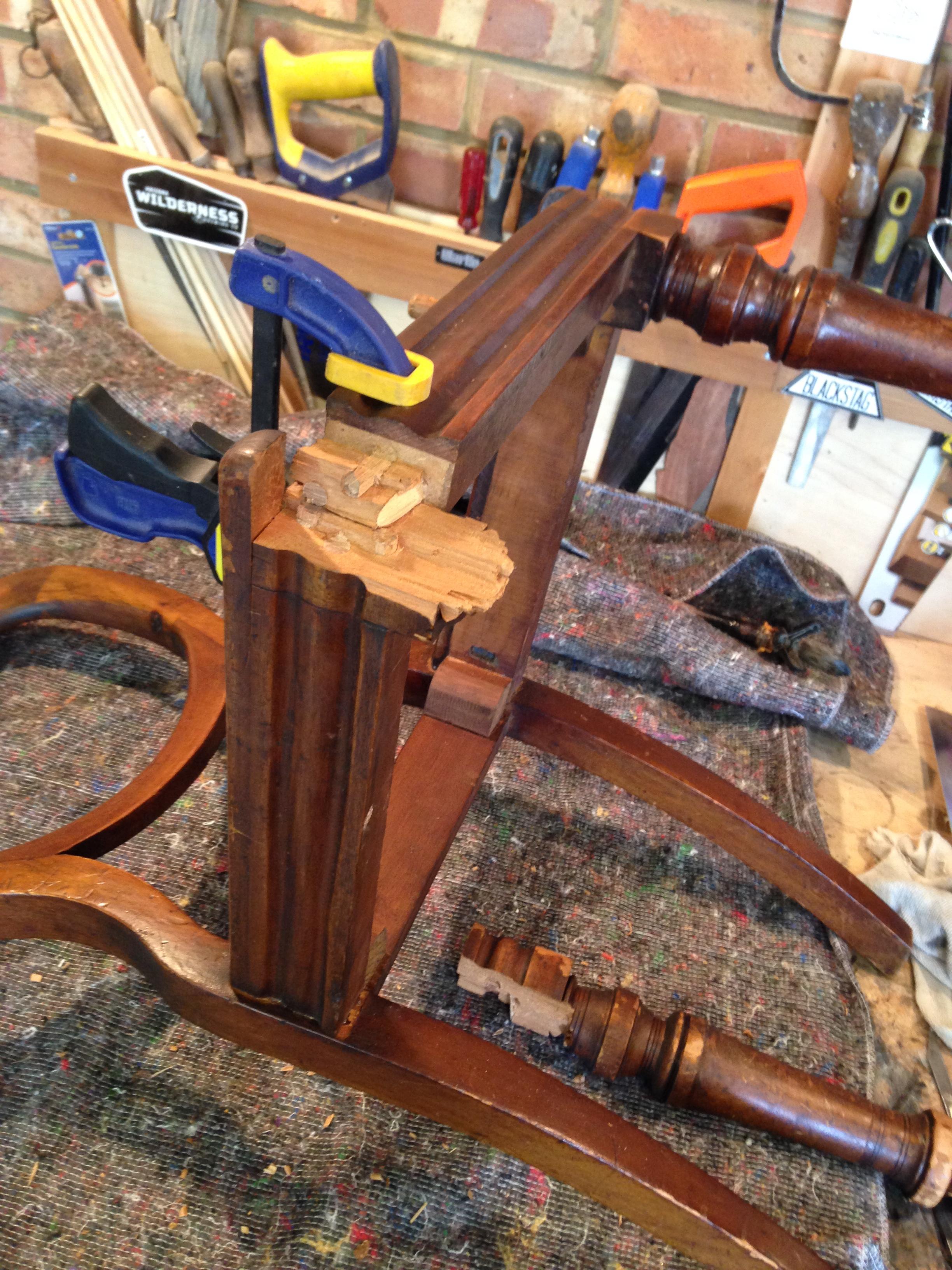 & Balloon-Back Chair Leg Repair