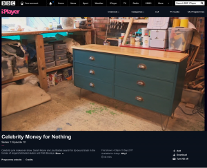 'After' shot of Money For Nothing project restored by Tom & Johnny at the 3 restorers workshop