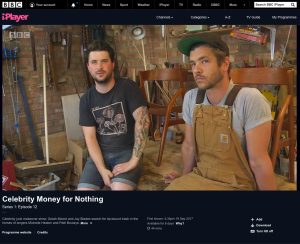 Tom & Johnny of 3 Restorers on BBC's Money For Nothing