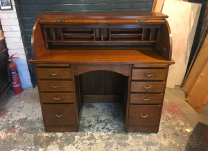 Antique furniture - oak desk - restorerd by 3 restorers London
