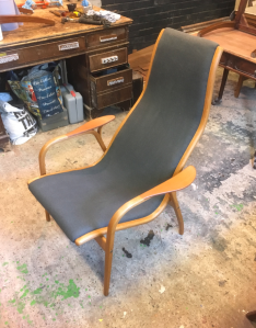 Midcentury furniture - Yngve Ekström lamino chair - restorerd by 3 restorers London