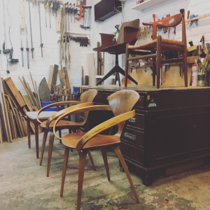 Midcentury furniture - restored by 3 restorers London - Hans J Wegner, Norman Cherner