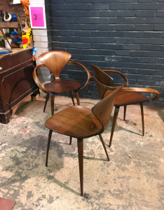 Midcentury furniture - Norman Cherner chairs - 3 restorers london