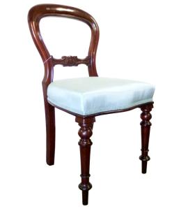 Mahogany, antique chair reupholstered at 3 restorers
